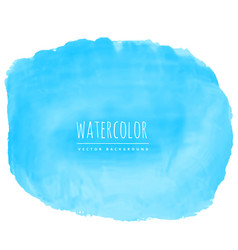 blue watercolor texture stain background vector image