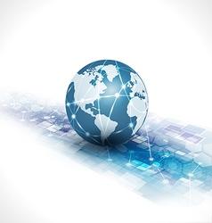 communication world technology background vector image vector image