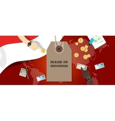 Made in indonesia price tag badge vector