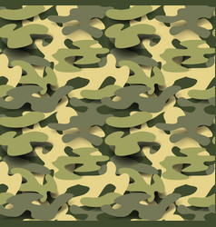 military seamless pattern camouflage background vector image vector image