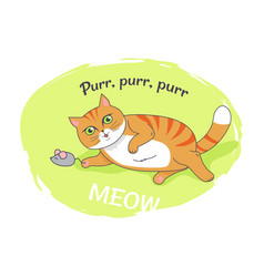 nice poster with funny kitten vector image