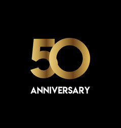 50 year anniversary simple template design vector