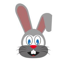 a cute funny bunny vector image