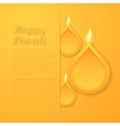 a happy Diwali day vector image