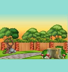 a nature garden scene vector image