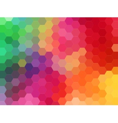 Abstract geometric background hexagon vector