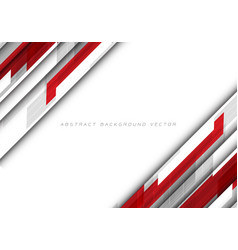 abstract red grey polygon on white blank space vector image