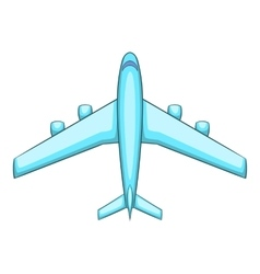 Airliner icon cartoon style vector