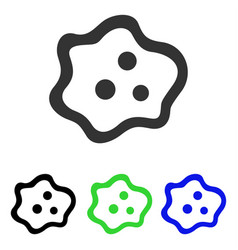Amoeba flat icon vector