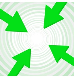 arrow to center vector image