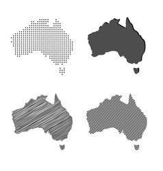 Australia map australian vector