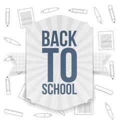 Back to School paper Badge vector image