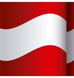 Background color with waving flag of austria vector
