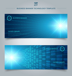 banner web template abstract technology concept vector image