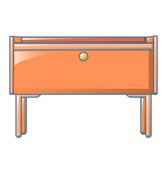 bedroom stand icon cartoon style vector image
