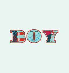 Boy concept word art vector