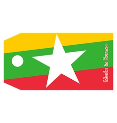 Burma flag on price tag vector image