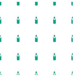 Candle icon pattern seamless white background vector