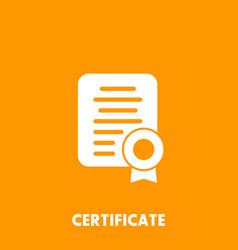 Certificate diploma icon vector