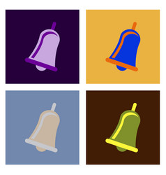 christmas bells church bell - school bell icon vector image