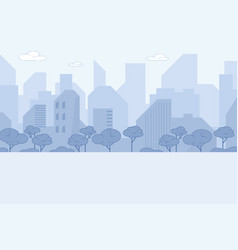 city landscape modern tall buildings downtown vector image