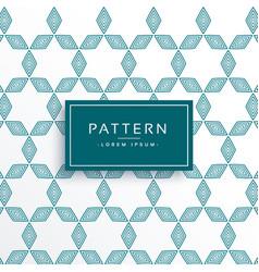 Clean geometric lines pattern design vector