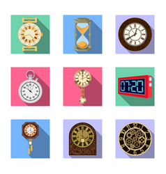 clock and time symbol vector image