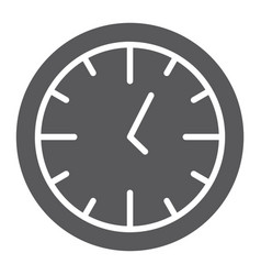 clock glyph icon time and dial watch sign vector image