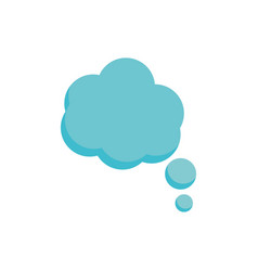 Cloud think intellect speech icon on white vector