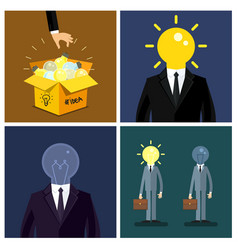 concept of idea set vector image