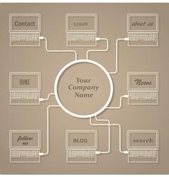 Concept web design template vector
