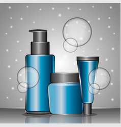 cosmetics bottle skincare vector image