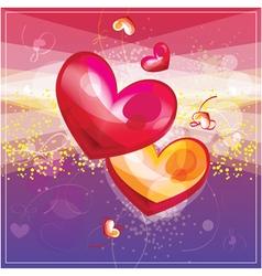 couple hearts vector image