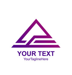 creative abstract triangle rologo design vector image