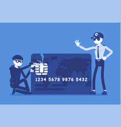 credit card hacking vector image