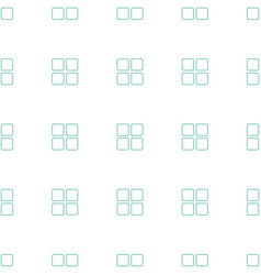cube icon pattern seamless white background vector image