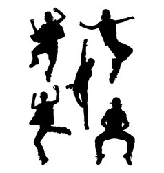 Dancer performance silhouette vector