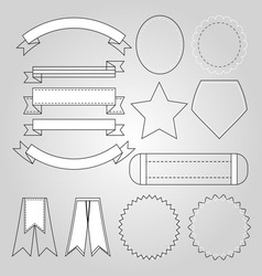 Design banners collection on bright background vector image