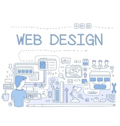 Design Web design graphics pen tool to create UI vector