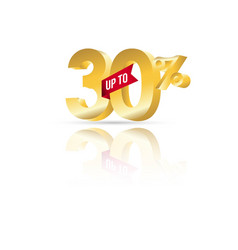 discount up to 30 template design vector image