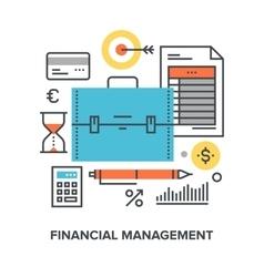 Financial management concept vector