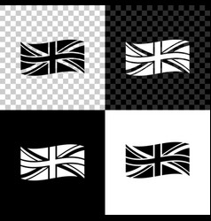 flag great britain icon isolated on black vector image