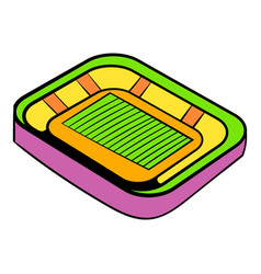 Football stadium icon icon cartoon vector