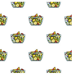Fruit salad icon in cartoon style isolated on vector