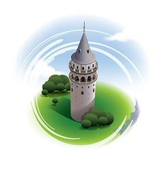 Galata Tower Istanbul vector