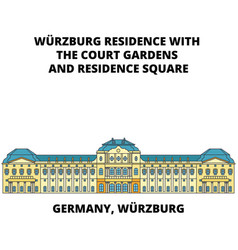 Germany wurzburg residence line icon concept vector