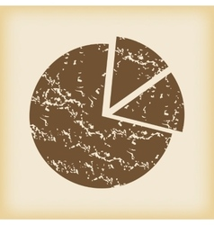 Grungy diagram icon vector