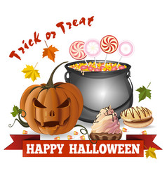 halloween design trick or treat vector image