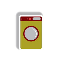 In paper sticker style washing vector