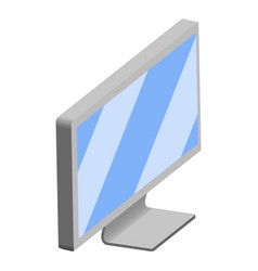 isolated 3d monitor screen vector image